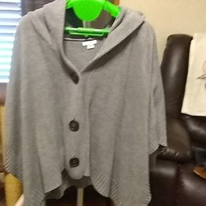 Over sweater cape with hood